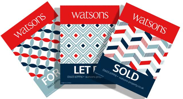 Watsons Sales & Lettings Boards